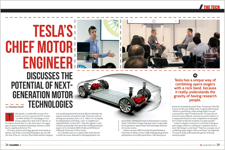 Tesla's chief motor engineer discusses next generation motor technologies